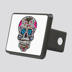 glitter Sugar Skull Rectangular Hitch Cover