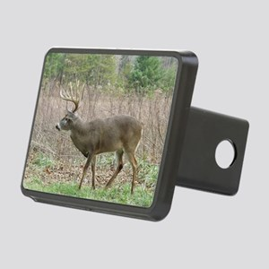 Whitetail buck Rectangular Hitch Cover