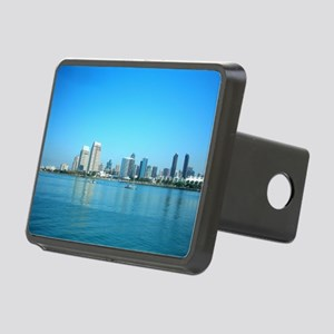 San Diego skyline Rectangular Hitch Cover