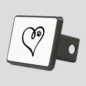 Pawprint on my heart Rectangular Hitch Cover