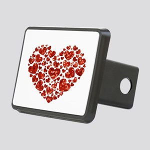 valentines day heart Rectangular Hitch Cover