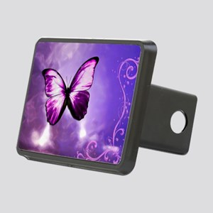 purple butterfly Rectangular Hitch Cover
