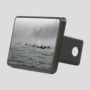 Passing Whales Rectangular Hitch Cover