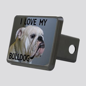 bulldog picture with love white Hitch Cover