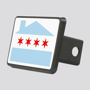 Chicago House Flag Hitch Cover