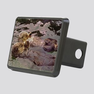 Sea Otters Holding Hands Rectangular Hitch Cover