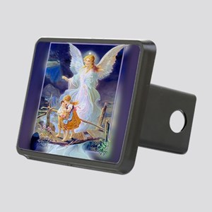 Guardian Angel with Childr Rectangular Hitch Cover