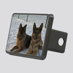 2 german shepherds Hitch Cover