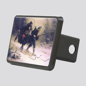 skiing art Hitch Cover