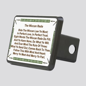 Balanced Wiccan Rede Rectangular Hitch Cover