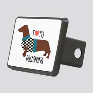 Love My Dachshund Hitch Cover
