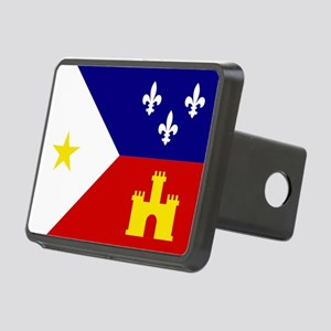 Acadiana Flag Louisiana Rectangular Hitch Cover