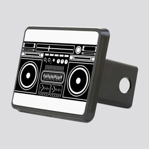 Boombox Tape Double Casset Rectangular Hitch Cover
