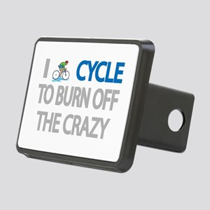 I CYCLE TO BURN OFF THE CRAZY Hitch Cover