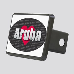 Aruba w Heart Rectangular Hitch Cover