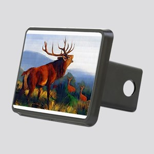 Bugling Elk Rectangular Hitch Cover
