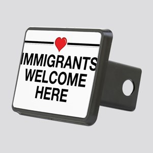 Immigrants Welcome Here Rectangular Hitch Cover