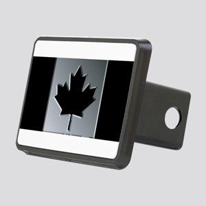 Canadian Flag Winter Camo Rectangular Hitch Cover