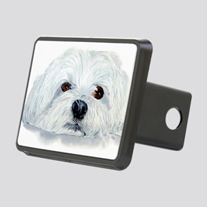 Bogart the Maltese Rectangular Hitch Cover