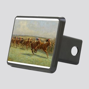 thoroughbred horse racing art Hitch Cover