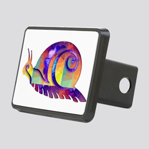 Polygon Mosaic Snail Multi Rectangular Hitch Cover
