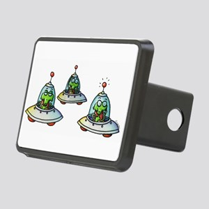 THREE ALIENS Rectangular Hitch Cover