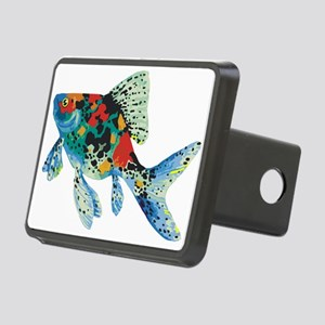Colorful Spotted Fish Rectangular Hitch Cover