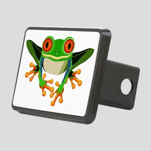 Colorful Tree Frog with Or Rectangular Hitch Cover