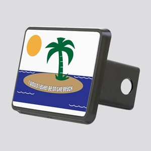 Island Beach Saying Rectangular Hitch Cover