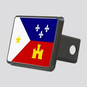 Flag of Acadiana Louisiana Rectangular Hitch Cover