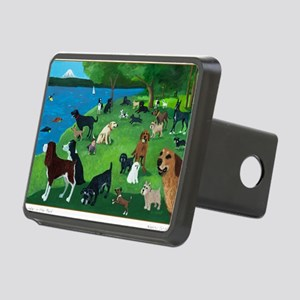 Sunday in the Park card Rectangular Hitch Cover