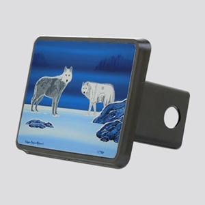 2 Wolves Rectangular Hitch Cover
