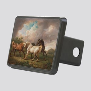 The Meeting of the Horses Rectangular Hitch Cover