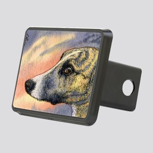Brindle whippet greyhound  Rectangular Hitch Cover
