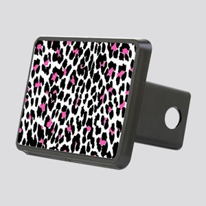 pink leopard print Rectangular Hitch Cover