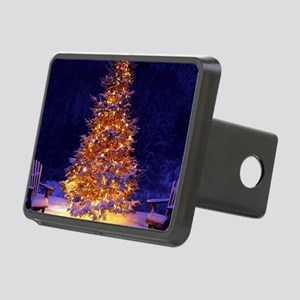 Christmas Tree With Lights Rectangular Hitch Cover