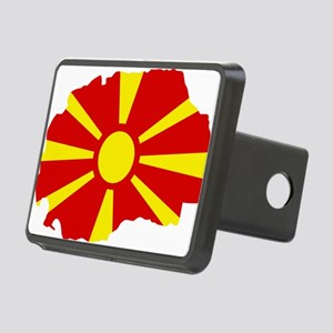 Macedonia map flag Rectangular Hitch Cover
