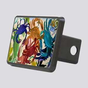 Crab Party Rectangular Hitch Cover