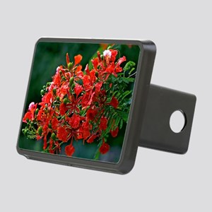 Red Flower_gd Rectangular Hitch Cover