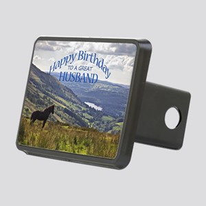 For husband, birthday card Rectangular Hitch Cover