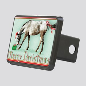 Appaloosa  Christmas card Rectangular Hitch Cover