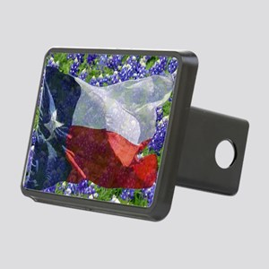 Texas flag bluebonnet card Rectangular Hitch Cover