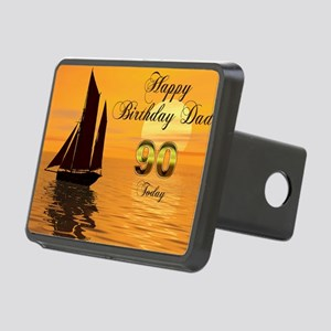 90th Birthday card for Dad Rectangular Hitch Cover