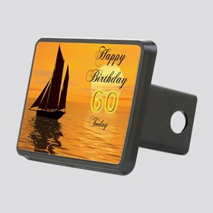 60th Birthday card with su Rectangular Hitch Cover