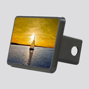 Sailing into the sunset Rectangular Hitch Cover