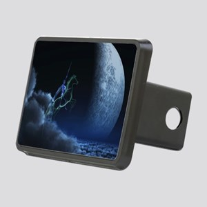 Knight in ghostly armor Rectangular Hitch Cover