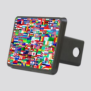 Flag Collage Rectangular Hitch Cover