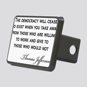 Jefferson-Democracy-(white Rectangular Hitch Cover