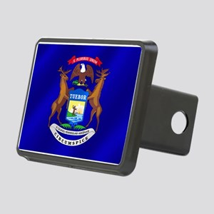 Michigan State Flag Rectangular Hitch Cover