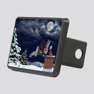 White Rabbit Christmas Rectangular Hitch Cover